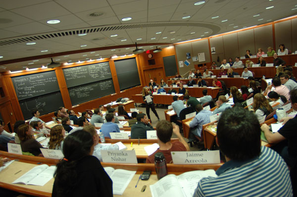 Лекция в Harvard Business School