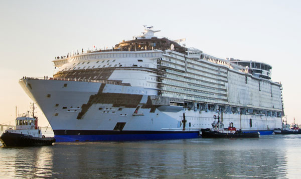 Строительство лайнера The Harmony of the Seas