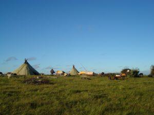 Стойбище оленеводов в тундре